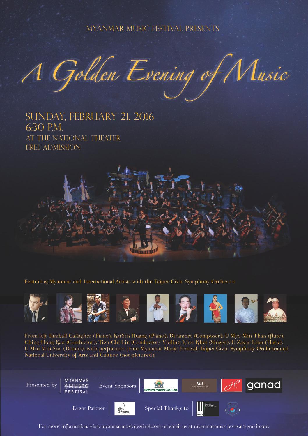 A Golden Evening of Music Poster